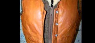 Vintage Schott 70s Hippie Leather Puffer Vest Video