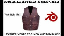 Leather Vests for Men Custom Made video