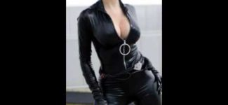 Sexy Catwoman Black Leather &Vinyl Costumes Video