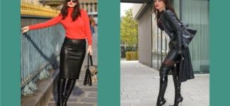 Women In Leather Skirts & Leather Boots Video