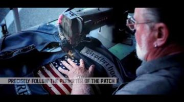 Sewing Patches On Leather Vests Video