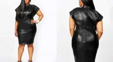 Leather Plus Size Dress Video