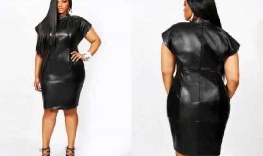 Leather Plus Size Dress Video